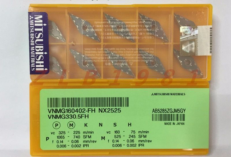 10Pcs NEW- Mitsubishi CNC blade VNMG160402-FH NX2525
