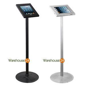 iPad-2-3-4-Air-Air2-iPad-Pro-9-7-034-Secure-Lockable-Floor-Display-Stand-Key-Lock