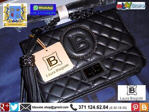 Borsa-Pochette-Donna-Laura-Biagiotti-New-Novita-A-I-Rarity-Nero-Fashion-Sera