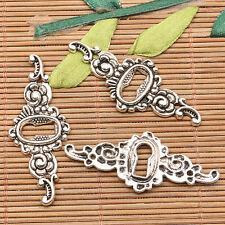 80pcs Tibetan silver floral connector FC10376