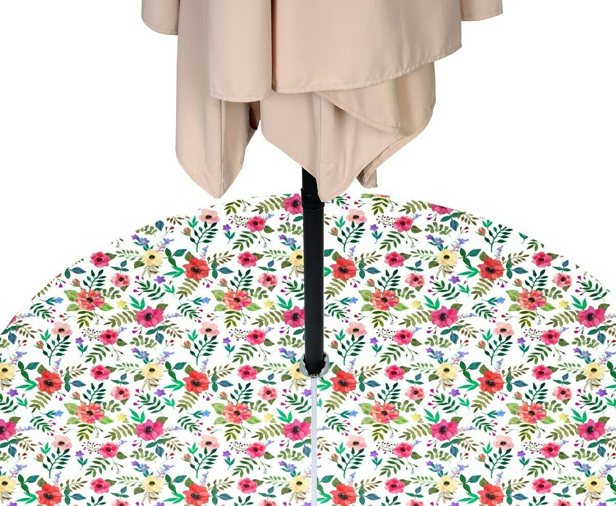 Mother's Day Floral Water Repellent Tablecloths w  Zipper & Umbrella Hole