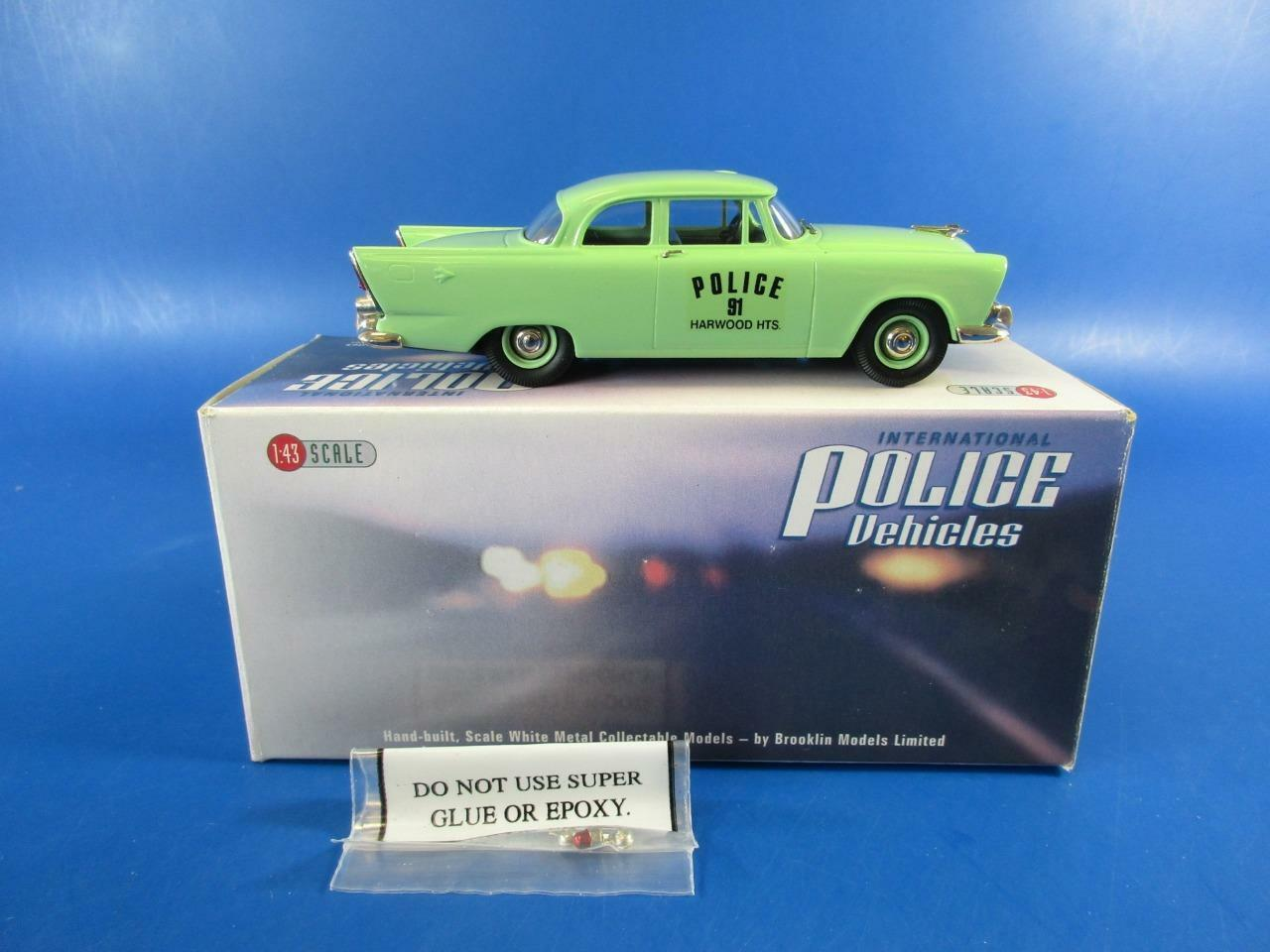 BROOKLIN MODELS IPV 21 1956 PLYMOUTH PLAZA HARWOOD HEIGHTS, 1 43, MIB