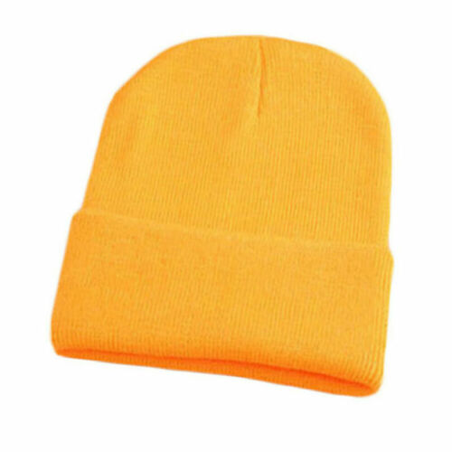 NEW Soft Ribbed Beanie Knit Ski Cap Skull Hat Warm Solid Color Winter Cuff Blank