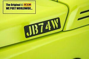 Suzuki-Jimny-JB74W-Black-Decals-x-3-2019-JDM-GJ-SZ5-JB74-Sierra