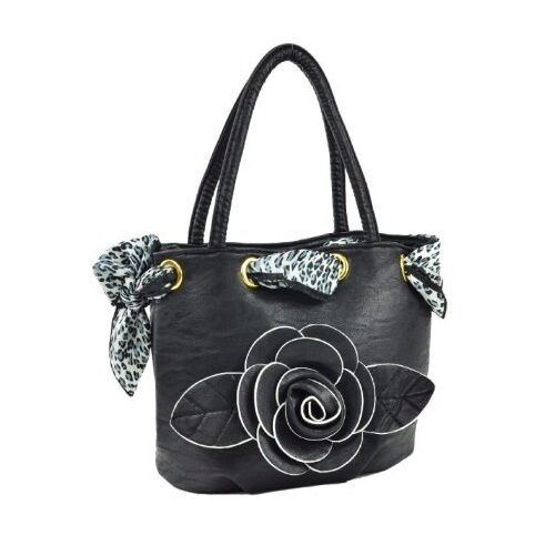Rose Leather Womens Faux Bag Flower Messenger Tote Handbag Shoulder Purse  Detail A7AwEq4 9b66a11858b