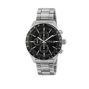 Orologio-Breil-Tribe-Fast-EW0462-Acciaio-Nero-Cronografo-Uomo-Watch-42mm