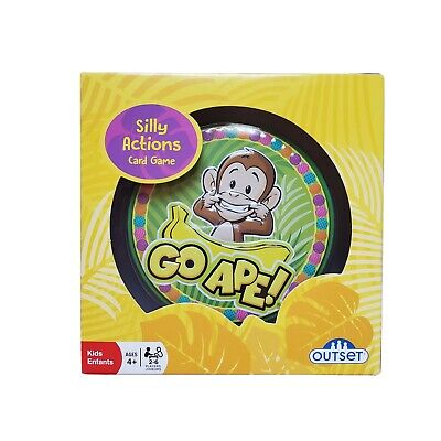 Twist on Go Fish Go Ape Travel Card Game for Kids Act Out Monkey Picture on