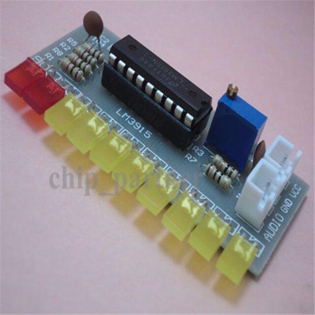 LM3915 Audio Level Indicator DIY Kit Module Electronic Production Suite DC9V-12V