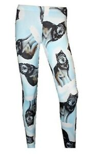 GOTHIC-LADIES-WOMENS-NEW-WOLF-ANIMAL-PRINT-ALTERNATIVE-LEGGINGS-SIZE-8-22