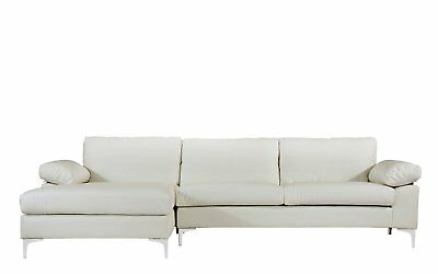 Modern Large Faux Leather Sectional Sofa L Shape Couch