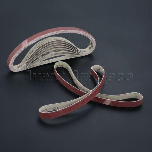 60#-600# Grit Grinding Polishing Sanding Belt Abrasive Sandpaper 452*15mm 10pcs