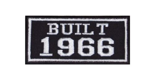 Built 1966 Biker Patches Year of Birth Construction Number Motorcycle MC Badge