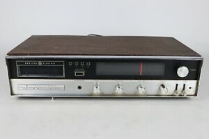 Vintage General Electric GE AM/FM Stereo Receiver 8 Track Tape Player M8635A