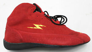 715f225225db47 IMPACT Racing SHOES Mens Mid Top RED Bill Simpson SFI 3.3 5 Rated M ...