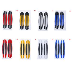 Fibra-de-carbono-de-coche-pegatinas-accesorio-de-advertencia-de-tira-reflectante