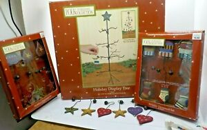 Folk-by-Williraye-Collection-18-Ornaments-amp-Holiday-Display-Tree-with-Star-w-Box