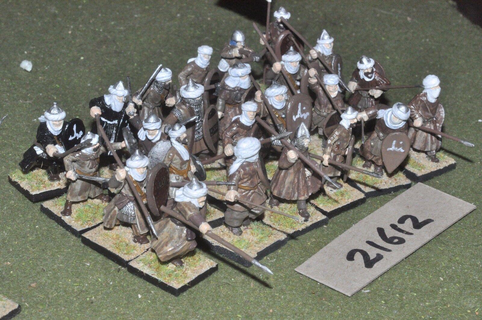 25mm medieval   spanish - 24 moorish spearmen infantry - inf (21612)