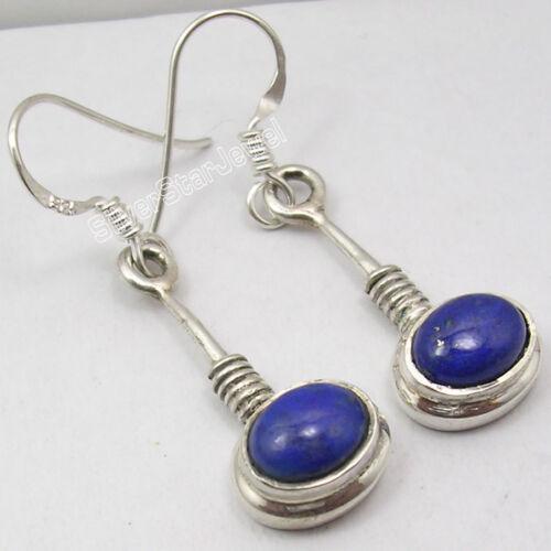 Choose Styles .925 SOLID STERLING Silver NAVY BLUE LAPIS LAZULI NEW Earrings
