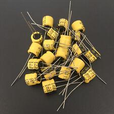 10pcs 100uF 25V 8x7mm 25V100UF Japan ELNA  Audio Capacitor Yellow