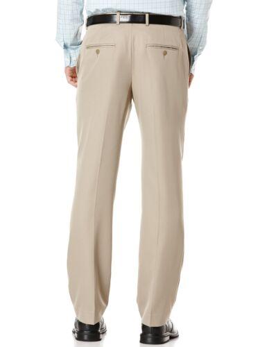 $212 PERRY ELLIS PORTFOLIO men BROWN FLAT FRONT FIT SUIT DRESS PANTS 36 W 29 L