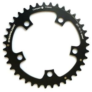 Stronglight-Dural-5083-9-10-Speed-Chainring-110mm-BCD-Black-All-Sizes