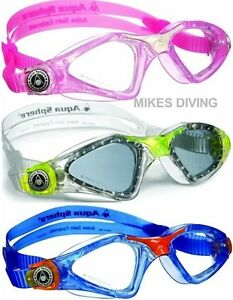 Kayenne-Ninos-Junior-natacion-gafas-por-Aqua-Sphere-Elegir-Color-lentes
