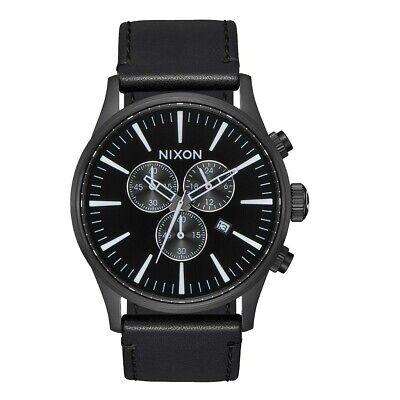 BlackEbay Watch A405756 00 Nixon Sentry Leather Chrono 8OkPZwNn0X