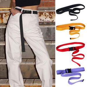 Unisex-Fashion-Solid-Canvas-Solid-Harajuku-Waist-Belt-Dress-Pants-Accessories
