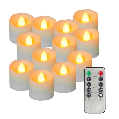 Flameless Tealight Candles Battery Operated LED Tea Light  with Remote Control