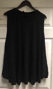 Lane-Bryant-sleeveless-blouse-Women-039-s-Plus-Size-26-28-black-pre-owned