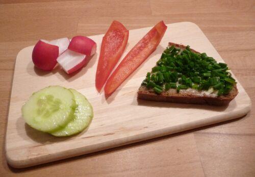 5 pièce rectangulaire petit-déjeuner lamelles avec coins arrondis en bois massif 28565