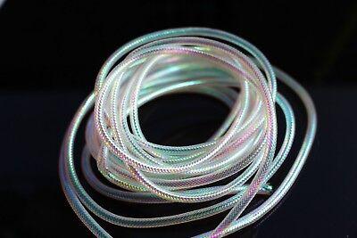 4 packs Pearl/&Violet Crystal Flash Holographic Tinsel Krystal Twisted Flashabou