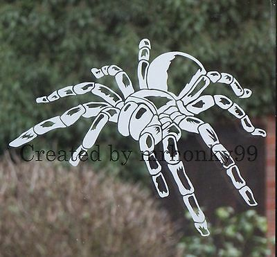 3x TARANTULA SPIDER CLIMBING WALL DECAL STICKER SPOOKY HALLOWEEN WINDOW DOOR