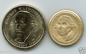 Uncirculated Washington Dollar, magnetically SHRUNK to diameter of a nickel!