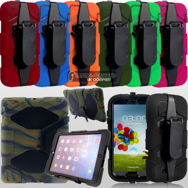 Heavy Duty Military Rugged Anti Shock Proof Stand Case Cover Belt Clip