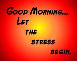 Металлический магнит доброе утро давайте начинать стресс друг семьи офис юмор