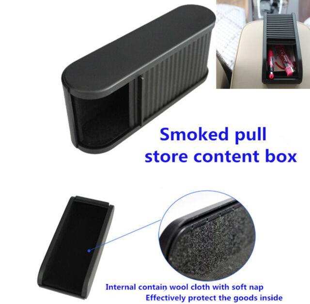 Car Plastic Pocket Sliding Dash Phone Money  Case Storage Box Holder Container