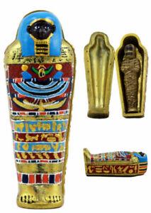 "Ebros Egyptian Saqqara Pharaoh Mummy Sarcophagus Figurine 4"" H"