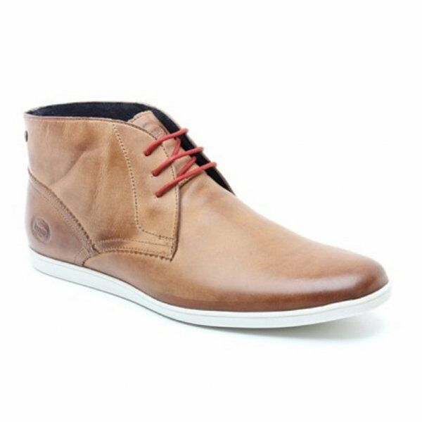 Base London Beach Tan Leather Lace Up Pull Up Chelsea Ankle Boots 7 40 New