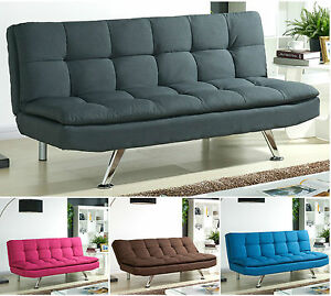 Padded Sofa Bed Fabric 3 Seater Padded Sofabed Suite