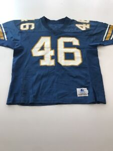 Game Worn Used Pittsburgh Panthers Pitt Football Jersey Size 46 #46