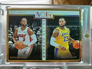 19-20-Panini-Noir-FOTL-SplitScreen-Gold-Lebron-James-Dwayne-Wade-07-11-SSP-Hot