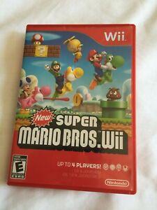 NO GAME New Super Mario Bros Nintendo Wii 2007 Case Artwork