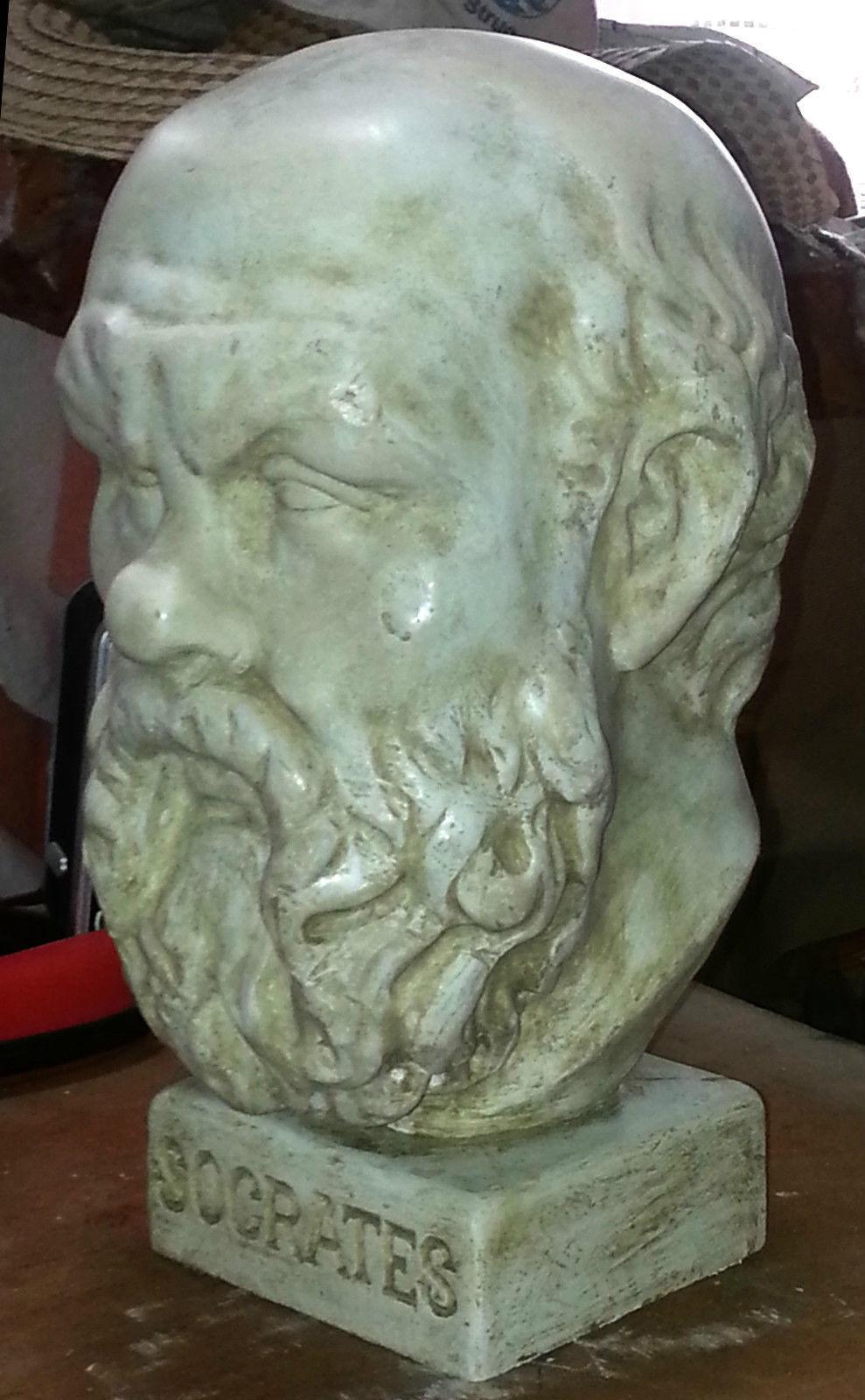 Socrates Greek philosopher Hermitage sculpture head bust 38 cm made in Sydney