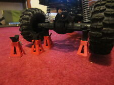 RC 1:10 scale Crawler Axial SCX10 Rc4wd Tamiya Losi HG P402 Red Jack stand x4