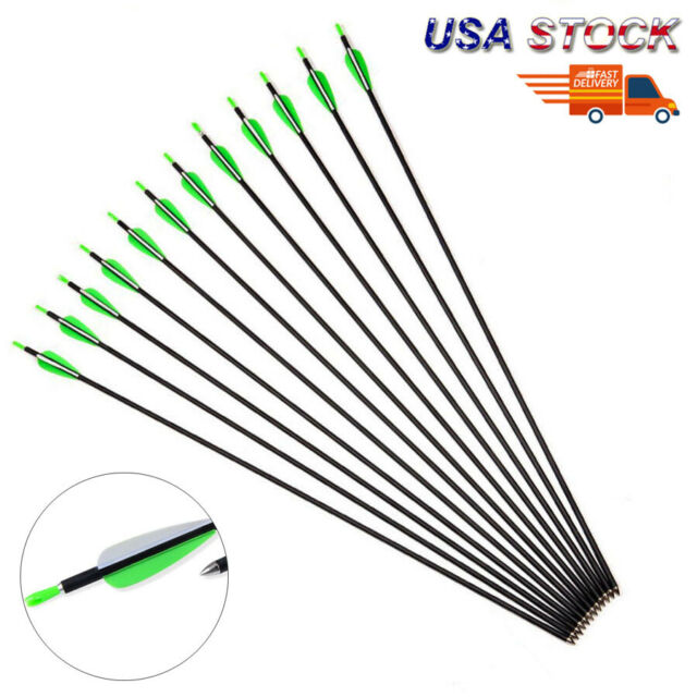 Musen High Quatity 30-inch Carbon Archery Target Practice Arrows for  Recurve or