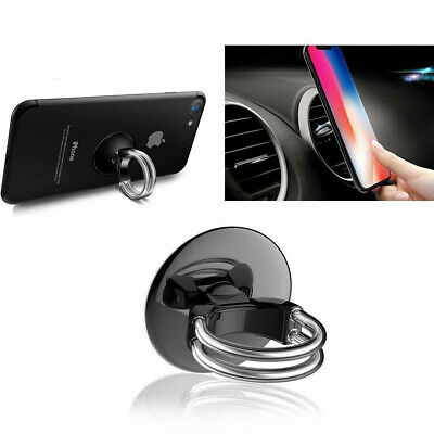Phone Ring Holder WYTTDM 3 in 1 Universal Air Vent Car Cell Phone Mount Finger Kickstand Stand 360/°Rotation 90/°Flip Silver