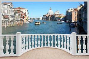 Huge-3D-Balcony-Venice-Wall-Stickers-Film-Decal-Wallpaper-409