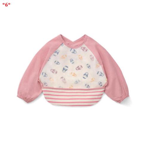 Baby Cute Bibs Waterproof Eva Unisex Feeding Burp Cloths with Long Sleeves 2019