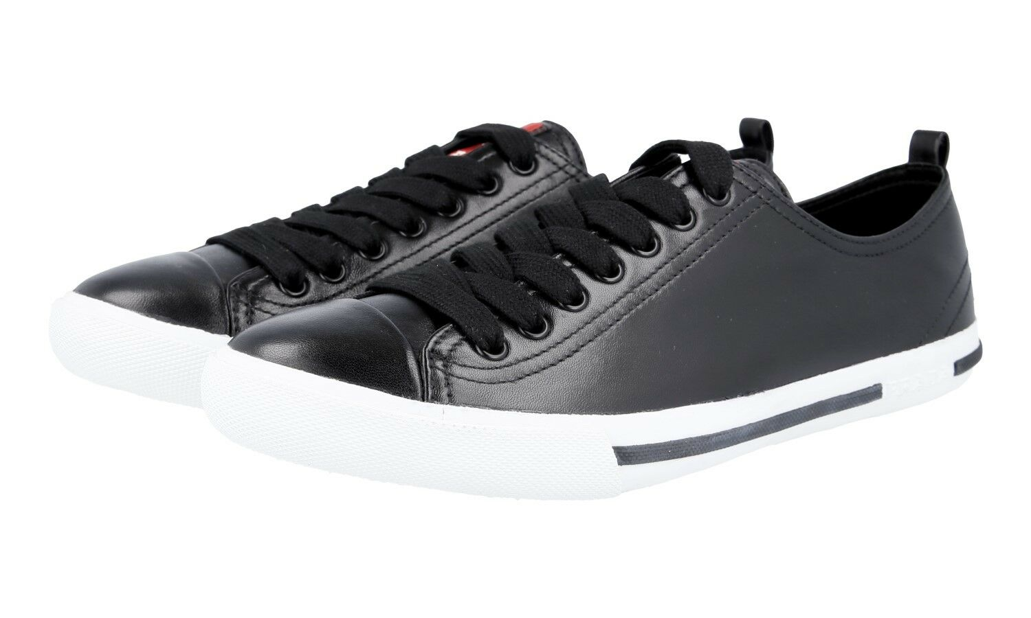 AUTHENTIC LUXURY PRADA SNEAKERS SHOES 4E2927 BLACK NEW US 8.5